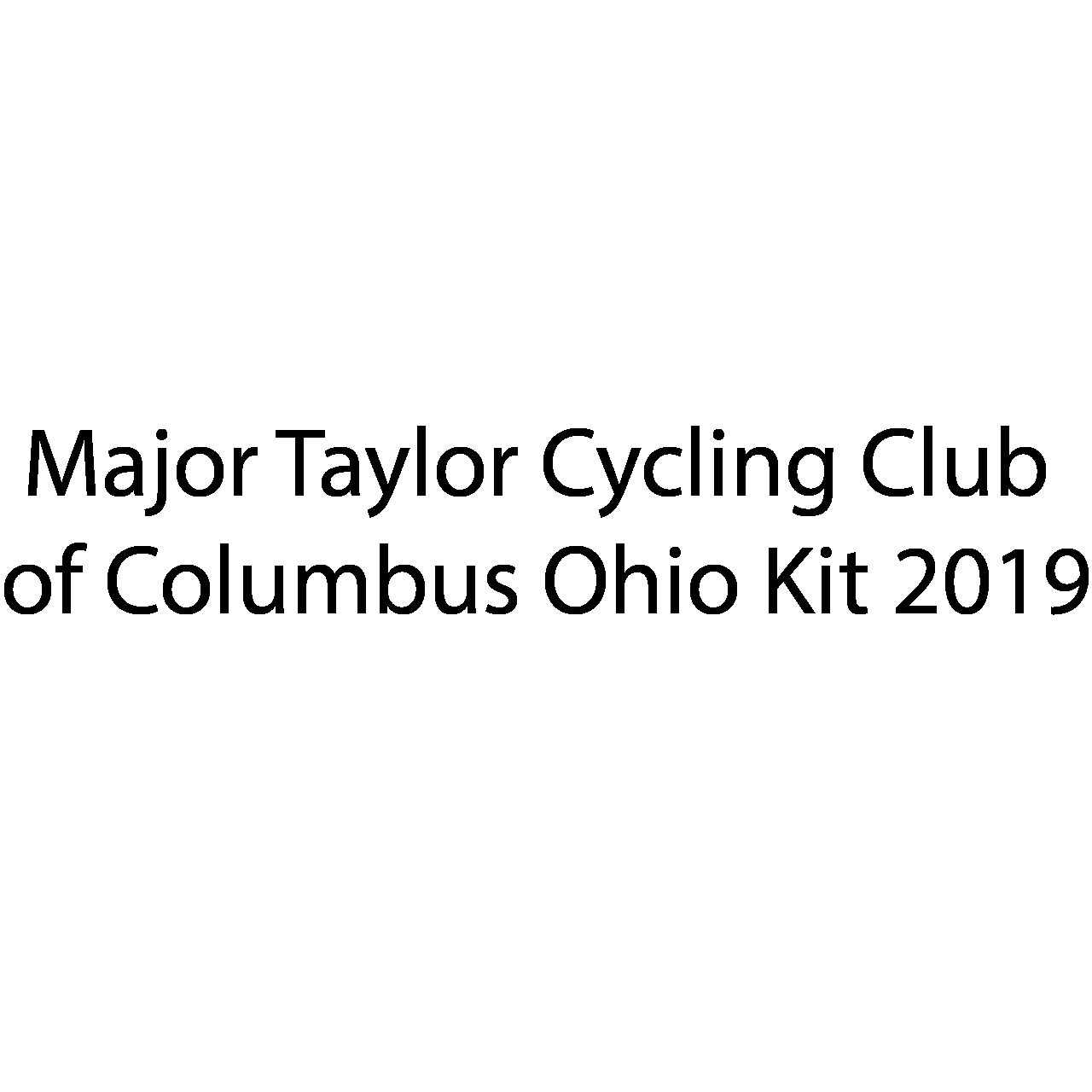 Major Taylor Cycling Club of Columbus Ohio Kit: (Red Kit)